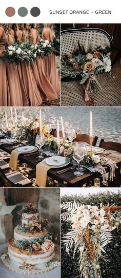 Top 9 fall wedding color schemes for 2019 – sunset orange and sage wedding, wedding bouquets, rustic wedding cakes, bridesmaid dresses, wedding centerpieces Source by lyemic … Autum Wedding, Sage Wedding, Rustic Wedding, Dream Wedding, Wedding Day, Luxury Wedding, Sunset Wedding Theme, Wedding Orange, Wedding Greenery