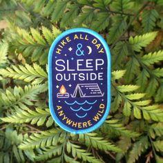 Sleep Outside Woven Patch
