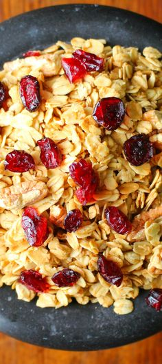 I make a batch of this easy homemade granola recipe every week!  So delicious and fantastically healthy!