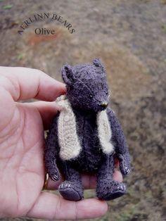 Olive, Miniature Mohair Artist Bear by Aerlinn Bears