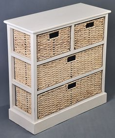 Antique cream 4 drawer storage unit