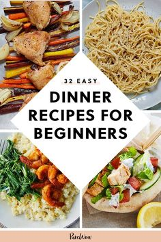 challenged beginners culinary recipes purewow recipe dinner manage food most easy even that can the 32 Easy Dinner Recipes for Beginners That Even the Most Culinary Challenged Can ManageYou can find Dinner recipes for beginners and more on our website Easy Recipes For Beginners, Cooking For Beginners, Easy Dinner Recipes, Healthy Dinner Recipes, Meat Recipes, Cooking Recipes, Chicken Recipes, Dinner Ideas, Lunch Recipes