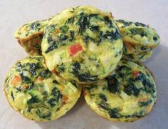 These are a breakfast option in the South Beach Diet (phase 1). They can be eaten hot or cold and can also be frozen. These make a handy and healthy snack to take to work too.