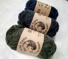 Neva Yarn Lot of 3x50g Hand Dyed 100% PURE WOOL YARN. Great colors for your projects. Blue green warm socks yarn. Good gift for mom A19 from NevaYarn on Etsy Studio
