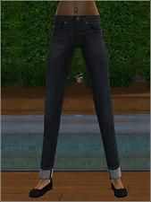 Mod The Sims - Cuffed Jeans for Teens