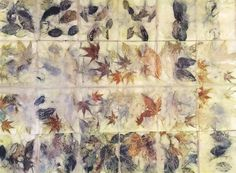 This is so beautiful, I can't stand it! Love, love, love the leaves. India Flint - marks on paper