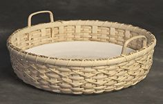 Party Platter by Shirley Eichten Albrecht Fiber serving tray wove n~ x 13 Cane Baskets, Making Baskets, Old Baskets, Woven Baskets, Basket Tray, Bamboo Basket, Basket Ideas, Party Platters, Basket Weaving Patterns