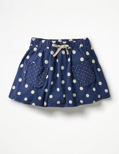 Spotty Jersey Skort Skorts at Boden Baby Outfits, Kids Outfits, Little Dresses, Little Girl Dresses, Baby Dresses, Dress Girl, Girls Skirt Patterns, Baby Skirt, Toddler Skirt