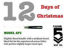 #12DaysOfChristmas #UniqueBats #CustomBats #Baseball #BaseballBats #AP5
