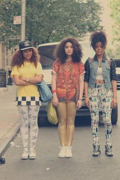 vintage hip hop outfit fly girls