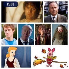 ISFJ characters  (Not all-inclusive, but including some really good examples of the type) :)