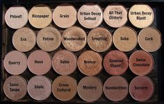 Mac Eyeshadows name