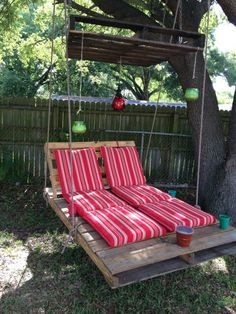 Pallet swing my husband made for my 7th anniversary gift!!!