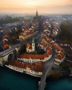 "Bern SWITZERLAND VACATIONS % (@switzerland.vacations): ""(: @emmett_sparling) Above Bern seen by @emmett_sparling #Switzerland_Vacations for a feature """