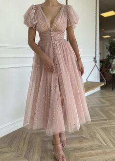 1950s Prom Dress, Prom Party Dresses, Formal Evening Dresses, Homecoming Dresses, Tea Length Formal Dresses, Dress Party, Wedding Dresses, Moda Vintage, Short Prom