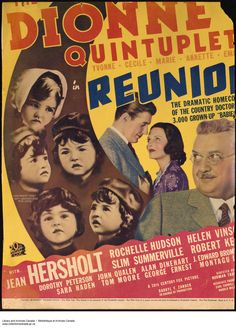 """Dionne Quintuplets movie poster for the film, """"Reunion""""."""