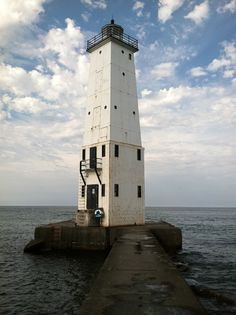 lake michigan lighthouse in Frankfort Mi,  Nothing like the shore of lake Michigan.
