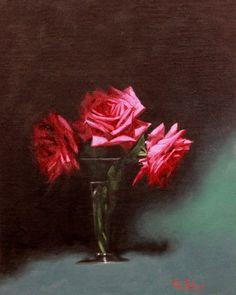 https://flic.kr/p/tz6CJG   A Rose Study   Rose Study by Vicki Sullivan Oil on Belgian Linen_Available#Roses#Gardening#Australian Painter#Australian Artist#Rose painting#Flower painting#Rose#Growing roses#