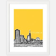 Chicago Skyline Print, $14, now featured on Fab.