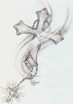 Nice cross tattoo