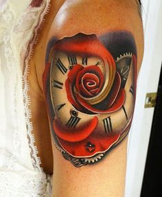 Realism Time Tattoo by Andres Acosta