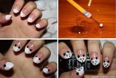 dyi panda  | DIY Panda Manicure!