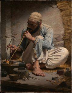 "tierradentro: """"The Arab Jeweller"", c.1882, Charles Sprague Pearce. """
