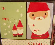 post with plenty of cute gift tags