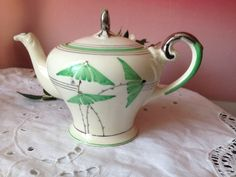 Teapot Rare patter, number unclear, Green with silver