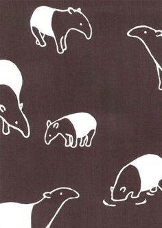 Tapirs! Cute :) It's not too often you see unusual mammals used for contemporary designs.