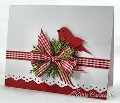 Christmas Tree Leaves Card