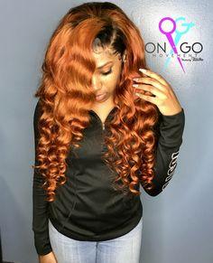 Color #Orange #Ginger #Frontal #OnGOMovement #Weave Perfect Hair Color, Pretty Hair Color, Hair Color For Black Hair, Sew In Hairstyles, Black Girls Hairstyles, Pretty Hairstyles, Black Box Braids, Beautiful Black Hair, Beautiful Women