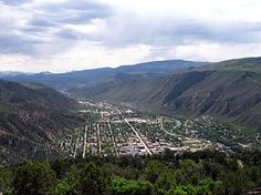 Glenwood Springs view towards south as seen from Glenwood Caverns....(Good biking)