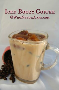 Iced Boozy Coffee is a really yummy way to have an after dinner drink. It's … Iced Boozy Coffee is a really yummy way to have an after dinner drink. It's simple to make but has a powerful punch of flavor! Alcoholic Coffee Drinks, Iced Coffee Drinks, Liquor Drinks, Cocktail Drinks, Vanilla Vodka Drinks, Baileys Drinks, Cocktail Ideas, Bourbon Drinks, Summer Drinks