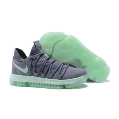 Nike Zoom KD 10 EP Basketball Shoes Gray Green 542fcbd96