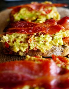 Avocado Bacon Toasts Recipe ~ Says: they pack the perfect combination ...
