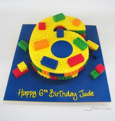 Lego birthday cake just need to do a 7 :D Number Birthday Cakes, Lego Birthday Party, Number Cakes, 6th Birthday Parties, Birthday Ideas, Cake Birthday, Cupcakes, Cupcake Cakes, Bolo Lego