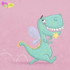 Dinosaurier als Fee verkleidet. Illustration Zeichnung Doodle von Sandy Thissen #Illustration #dino #dinosaur Pattern Illustration, Photo Illustration, Illustrations, Cartoon Dinosaur, Dinosaur Pattern, Mini Me, Doodle, Art For Kids, Art Photography