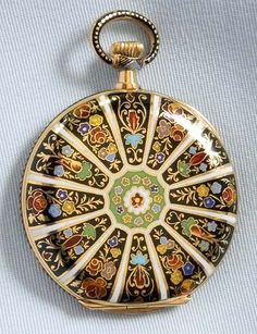 Longines 18K Champleve Enamel Pendant Watch - Bogoff Antique Pocket Watch #…