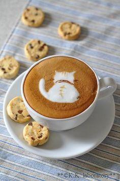 Cappuccino Art, Coffee Latte Art, Coffee Cafe, Hot Coffee, Iced Coffee, Coffee Drinks, Pause Café, How To Make Coffee, Making Coffee