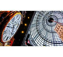 Clock at the Shot Tower - Melbourne Central, Victoria Photographic Print