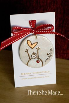 Personalized Reaching Snowman Christmas Ornament