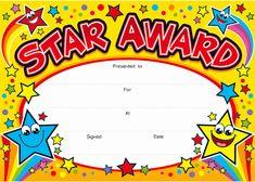 Student Of the Day Certificate Beautiful Star Award Award One Certificate Each Week On A Friday Free Printable Certificate Templates, Certificate Design, Templates Free, Design Templates, Preschool Certificates, Award Certificates, Education Certificate, Kids Awards, Student Awards