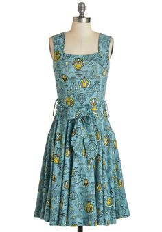 Guest of Honor Dress in Balloons. You'll be flooded with invitations when exhibiting this finely tailored frock by Effie's Heart! #blue #modcloth