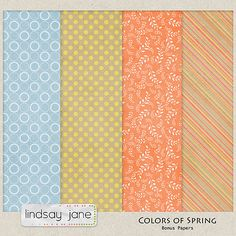 Colors Of Spring paper pack freebie from Lindsay Jane