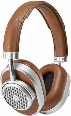 Master and Dynamic Active Noise-Cancelling (ANC) Wireless Headphones Premium Bluetooth Over-Ear Headphones, Brown Leather/Silver Metal Iphone Headphones, Best Headphones, Noise Cancelling Headphones, Wireless Headphones, Over Ear Headphones, Headphone With Mic, Brown Leather, Silver Metal, Music Express