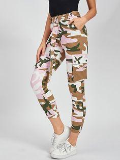 De 22 beste afbeeldingen van SHEIN | Camouflage broek