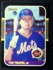 1987 Donruss  New York Mets Tim Teufel Card# 581