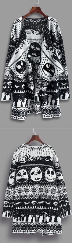 Up to 70% OFF! Halloween Skull Knitting Tunic Cardigan. Zaful,zaful.com,zaful online shopping, sweaters&cardigans, sweater,sweaters,cardigans,choker sweater,chokers,chunky sweater,chunky,cardigans for women, knit, knitted, knitting, knitwear, cardigan, cardigan outfit,women fashion,winter outfits,winter fashion,fall outfits,fall fashion, halloween costumes,halloween,halloween outfits,halloween tops. @zaful Extra 10% OFF Code:ZF2017