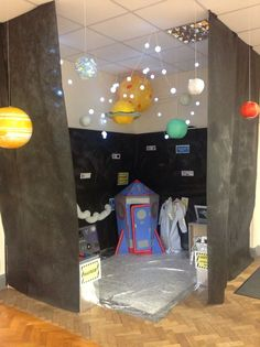 An awesome example of a space station dramatic play area. Space Preschool, Space Activities, Preschool Classroom, Activities For Kids, Stem Activities, Dramatic Play Area, Dramatic Play Centers, Preschool Dramatic Play, Camping Dramatic Play